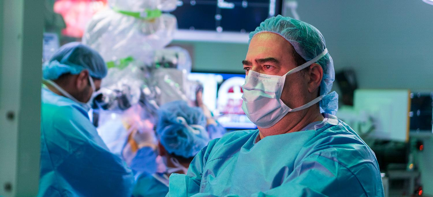 Dr. Howard Riina in Operating Room
