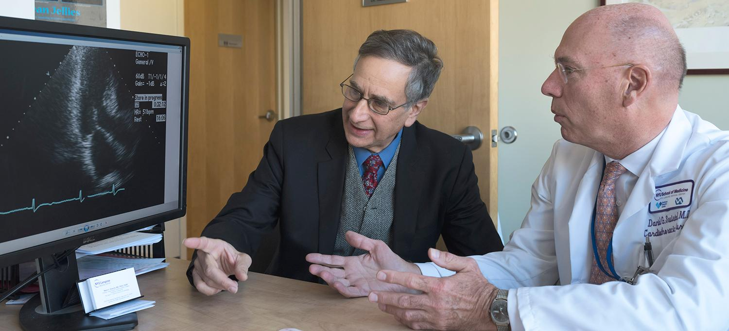Drs. Mark Sherrid and Daniel Swistel Review a Patient's Scan