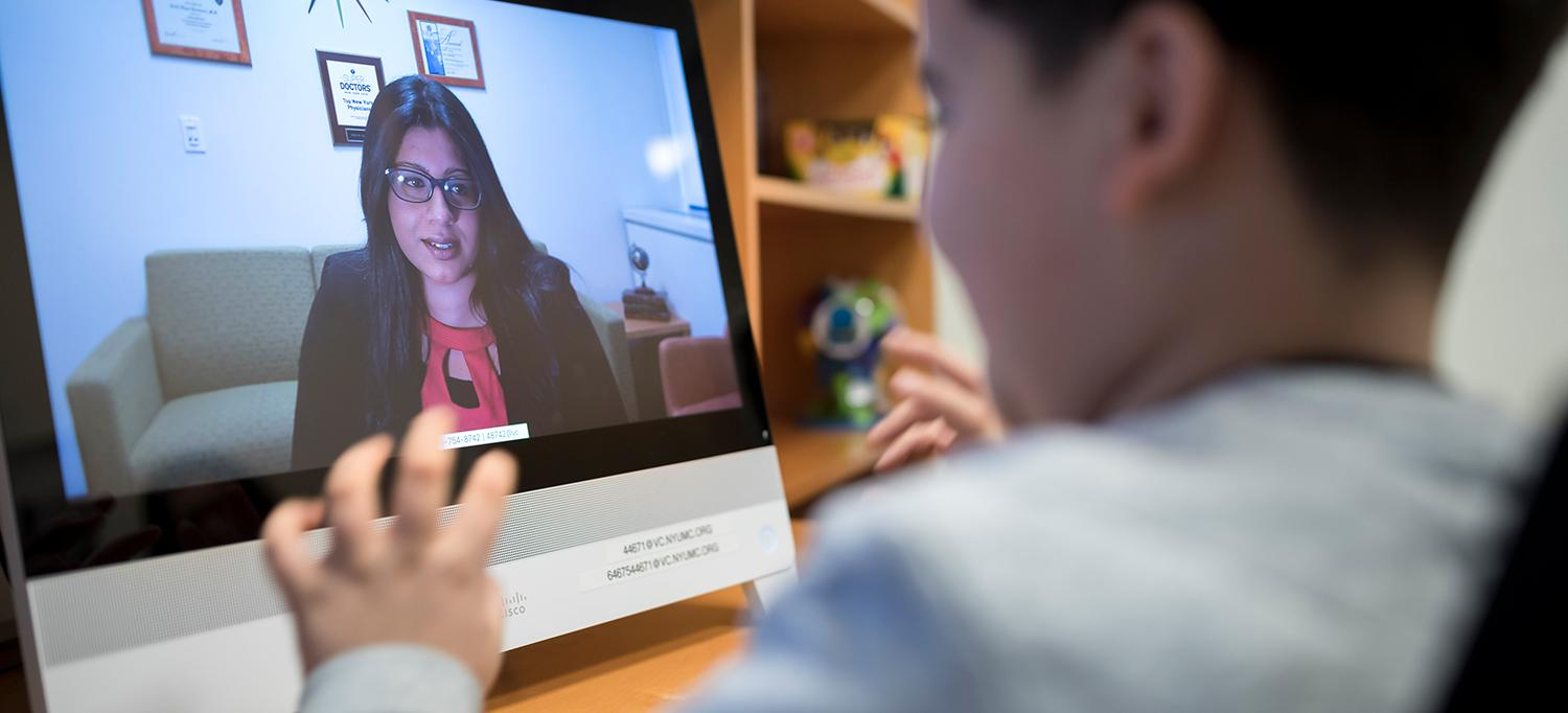 Dr. Shabana Khan Conducts Telepsychiatry Session with Young Patient
