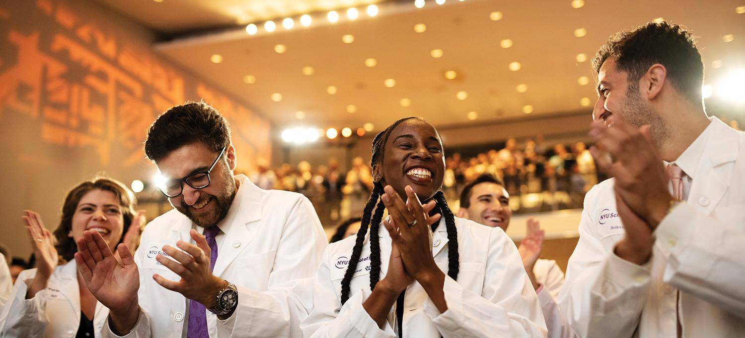 Students Applauding at White Coat Ceremony