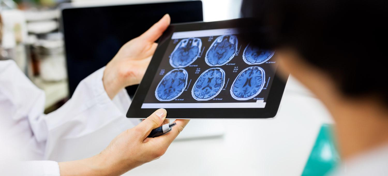 Brain Scan Images on Tablet