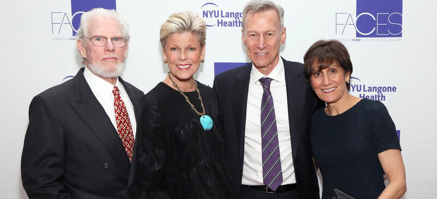 2018 FACES Gala Honorees Deborah and Bill Harlan with Dr. Orrin Devinsky and Deborah Devinsky