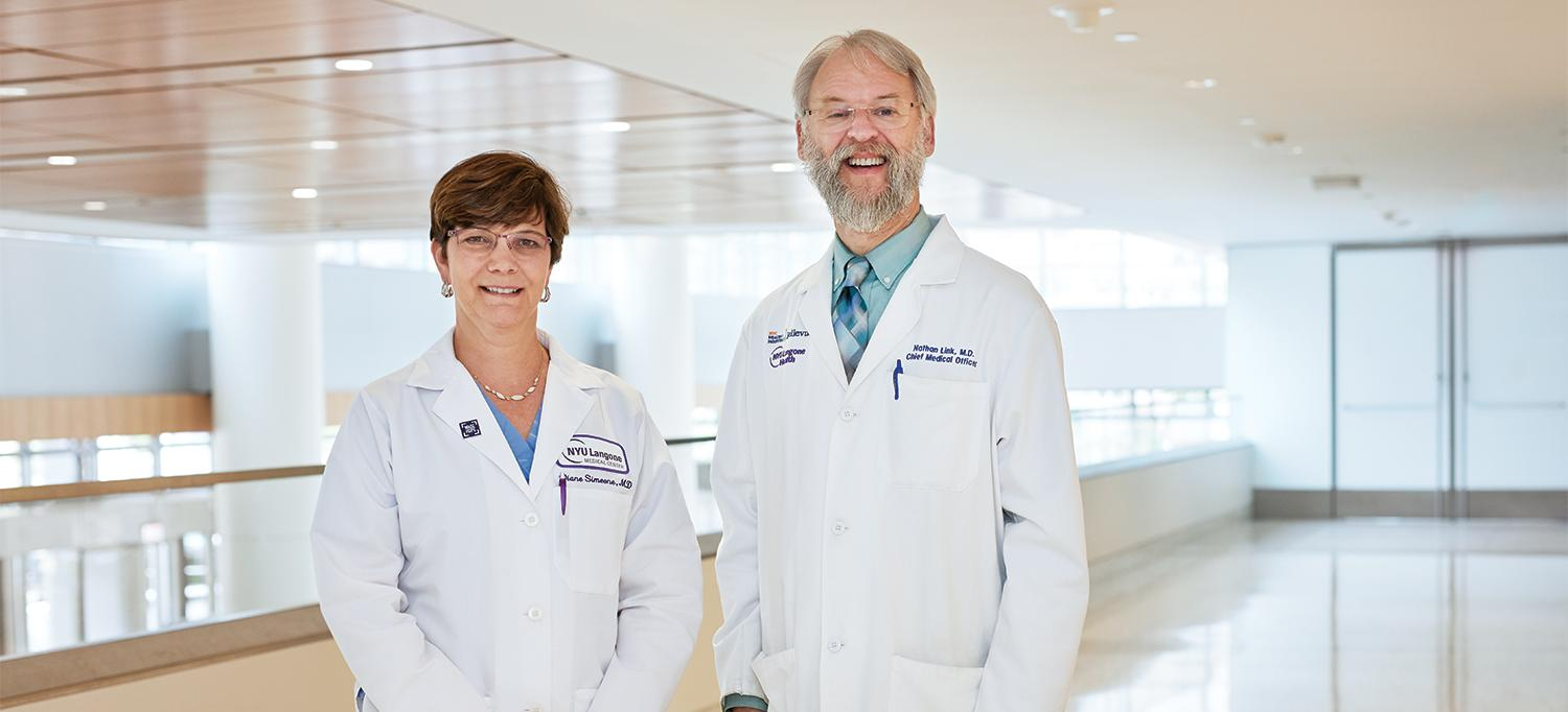 Dr. Diane Simeone and Dr. Nathan Link