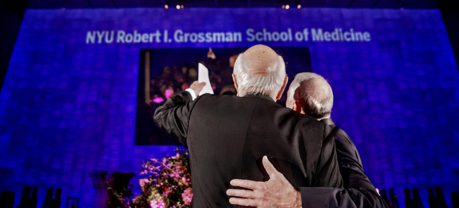 Ken Langone and Dr. Robert Grossman