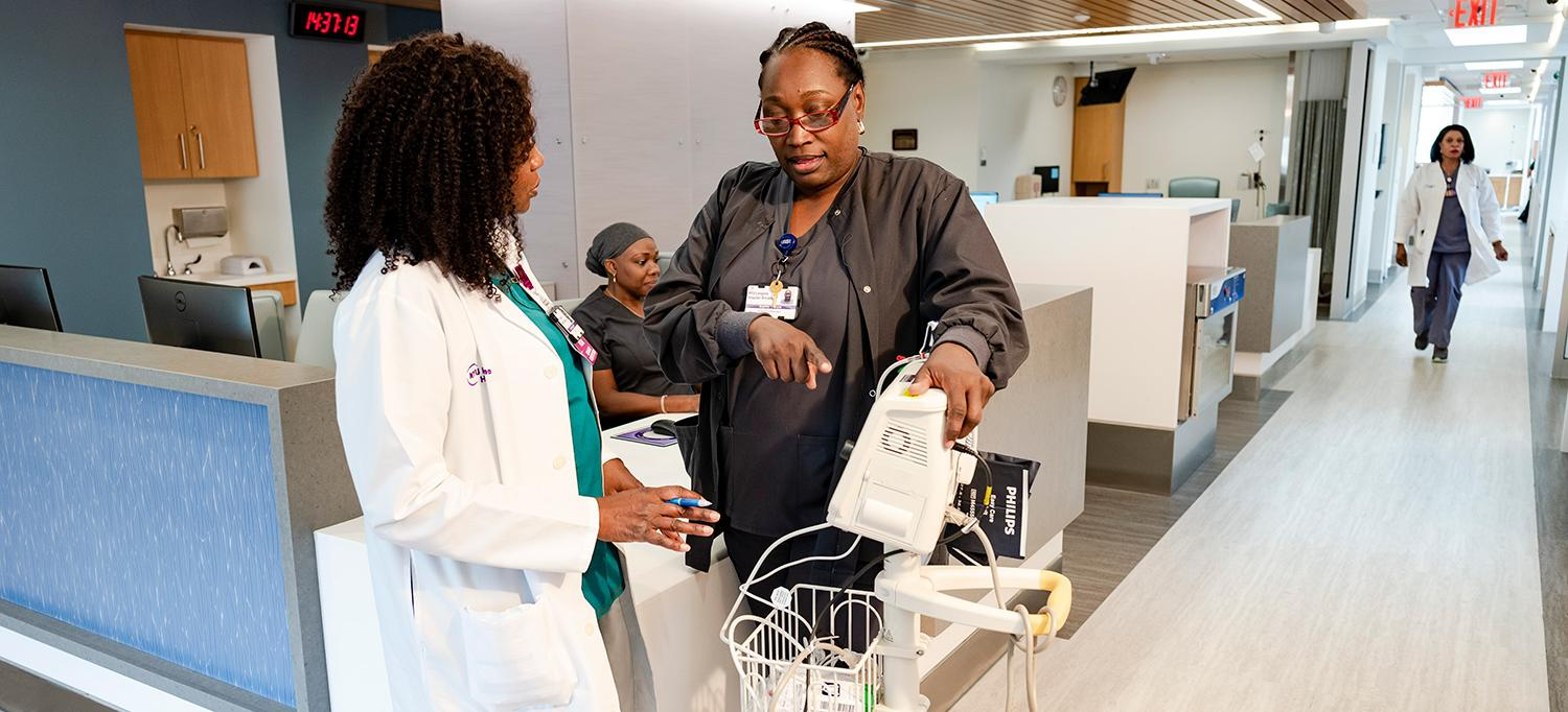 NYU Langone Hospital—Brooklyn Staff Examine Medical Equipment