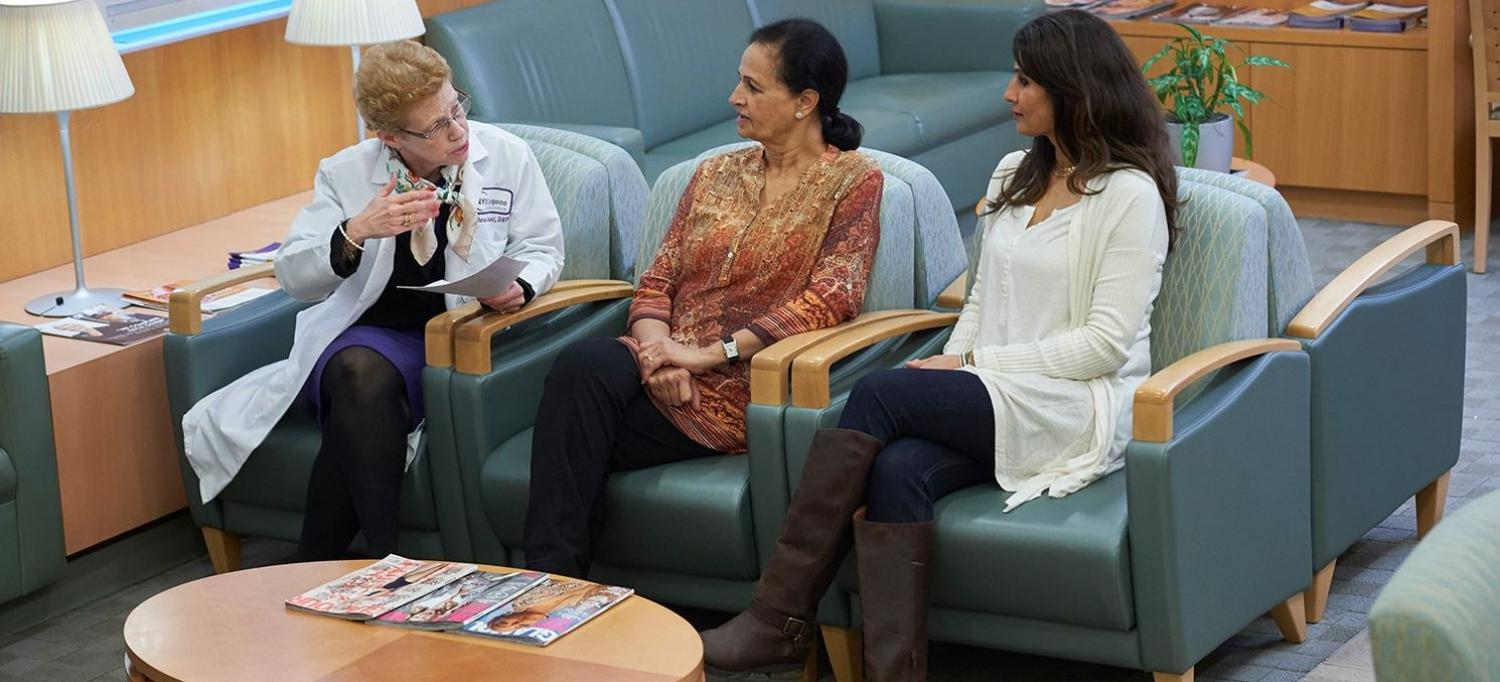 Clinician Talking with Patients