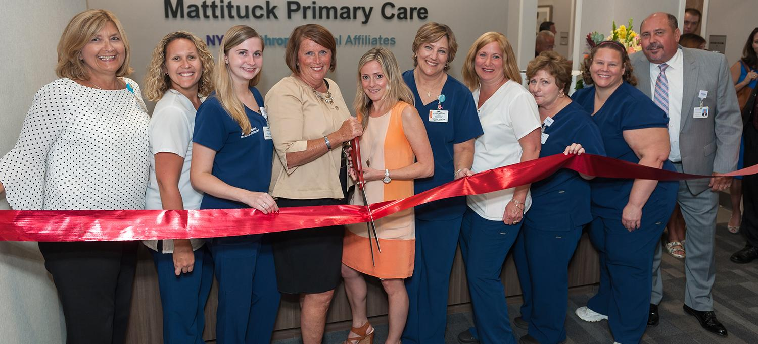 The Care Team at Mattituck Primary Care Celebrate Their Grand Opening with a Ribbon Cutting Ceremony