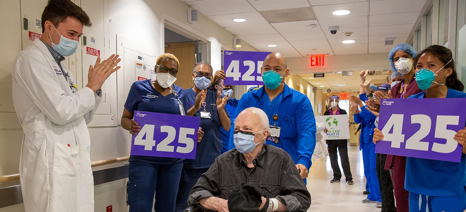 NYU Langone Orthopedic Hospital Discharges 425th Patient to Recover from COVID-19, Terence Moran