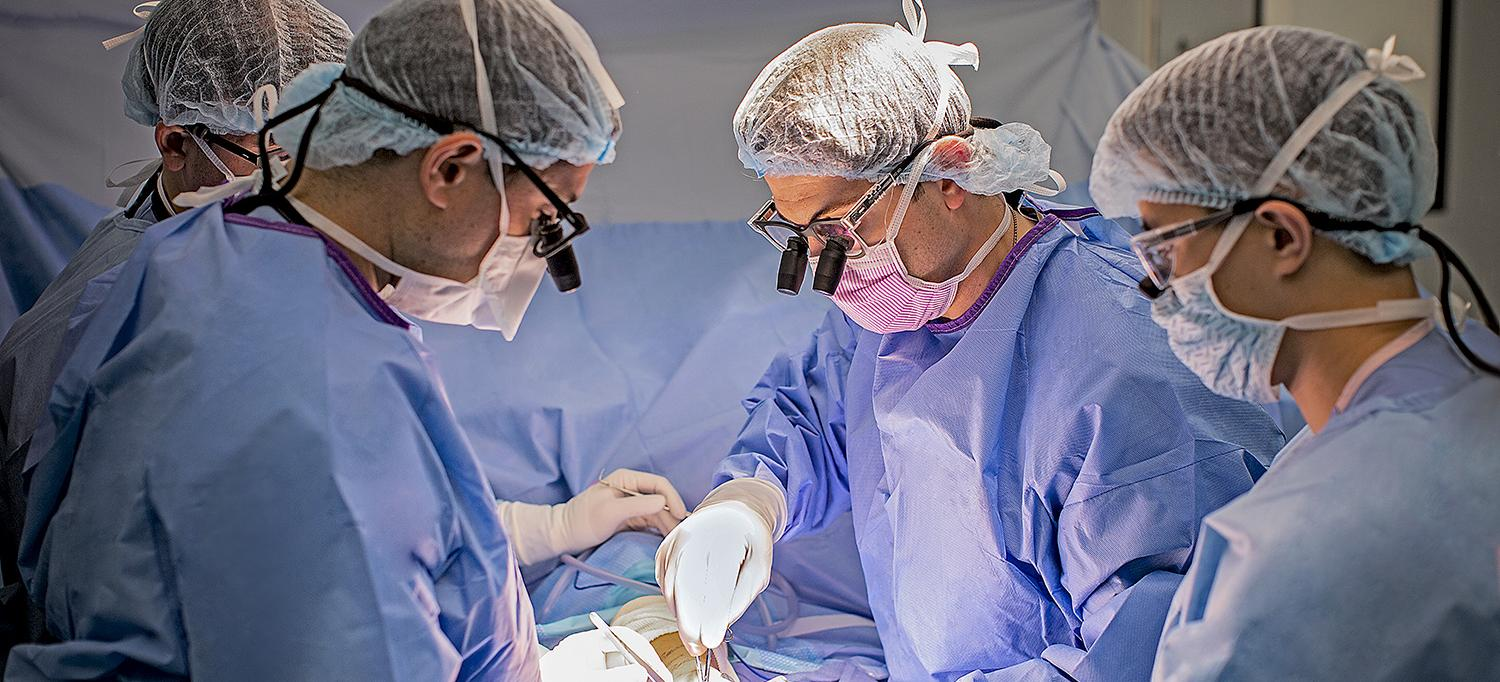 Dr. Omri B. Ayalon and Dr. Jacques H. Hacquebord in the Operating Room