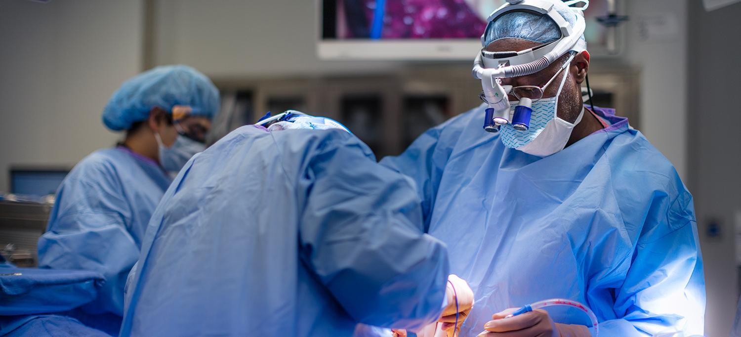 Dr. Anthony K. Frempong-Boadu Leads Team in Operating Room