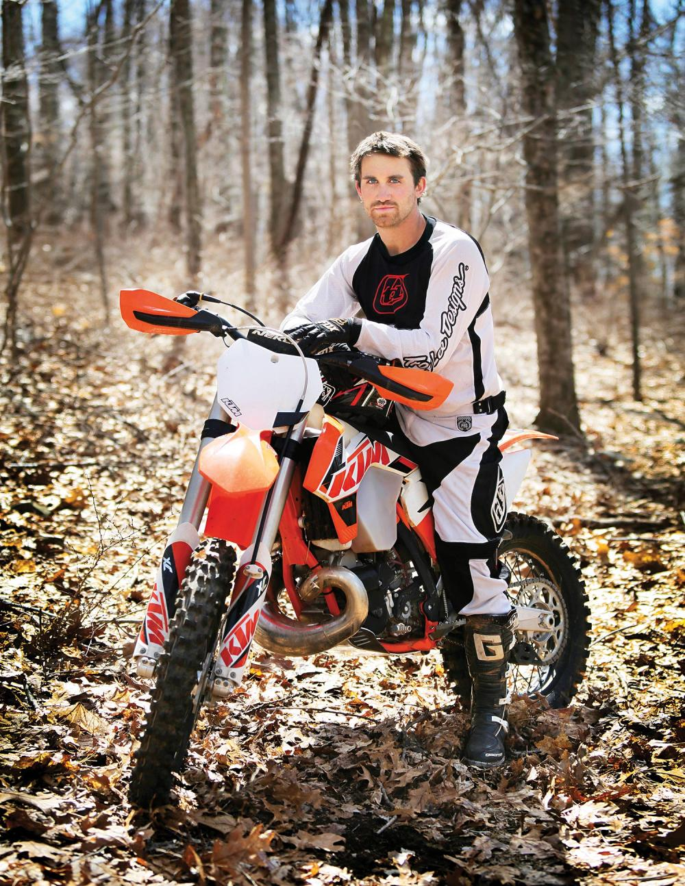 ICD Patient Jake Baxter on Mountain Bike