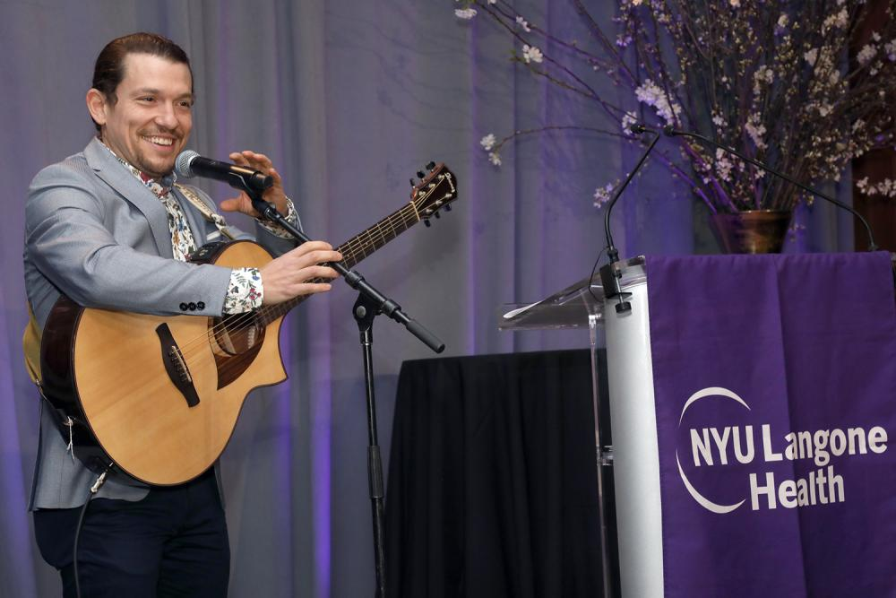 Singer Miguel Cervantes Performs at FACES Gala