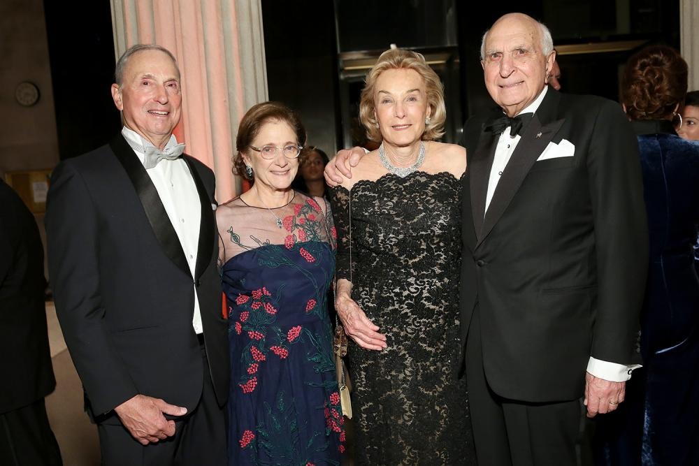 Dr. Robert I. Grossman; Elisabeth J. Cohen, MD; and Elaine and Ken Langone at the 2019 Violet Ball