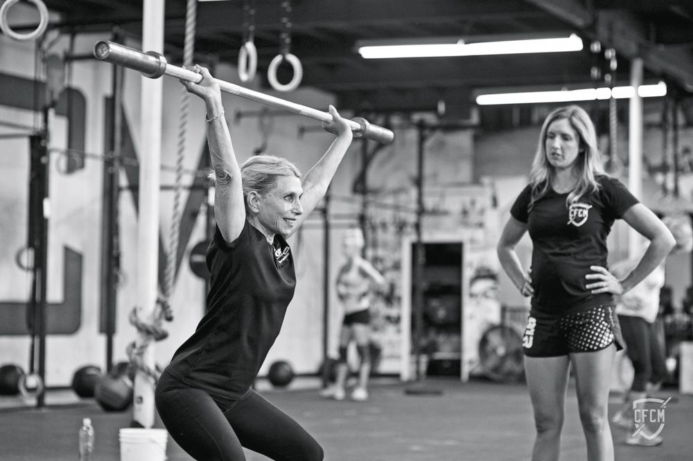 Nancy Clayton Lifts Weights at Crossfit Gym