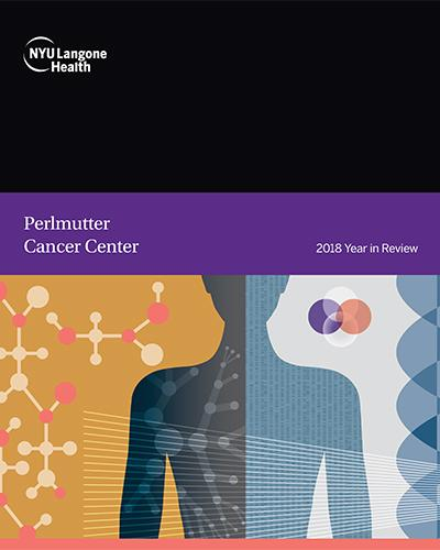 Perlmutter Cancer Center 2018 Year in Review Cover